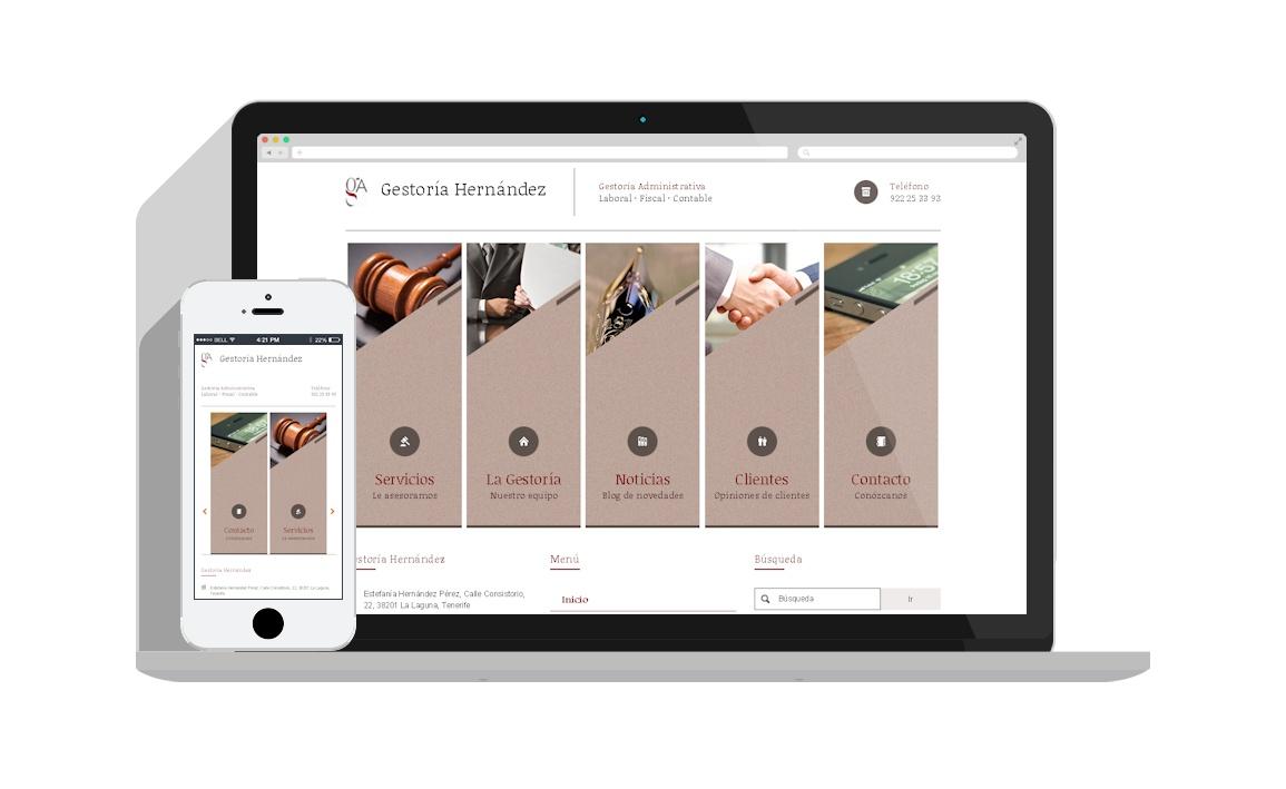 Diseño web Gestoría Asesoria